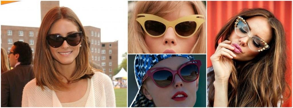 Aprenda a combinar os óculos de gatinho ao seu formato de rosto ... b4bcef191e