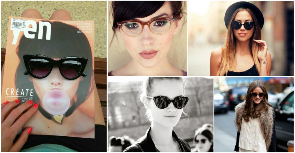 293605c86c63c Aprenda a combinar os óculos de gatinho ao seu formato de rosto ...