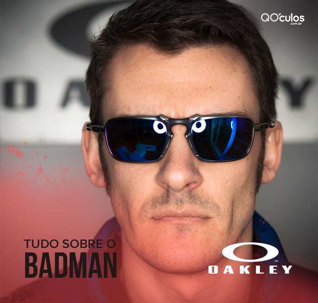 b5f55416f Os óculos Badman Oakley já foram vistos em algumas celebridades, como  pilotos de moto GP que a marca patrocina e atores de Hollywood.