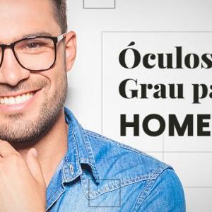 Óculos de Grau da Moda Masculina