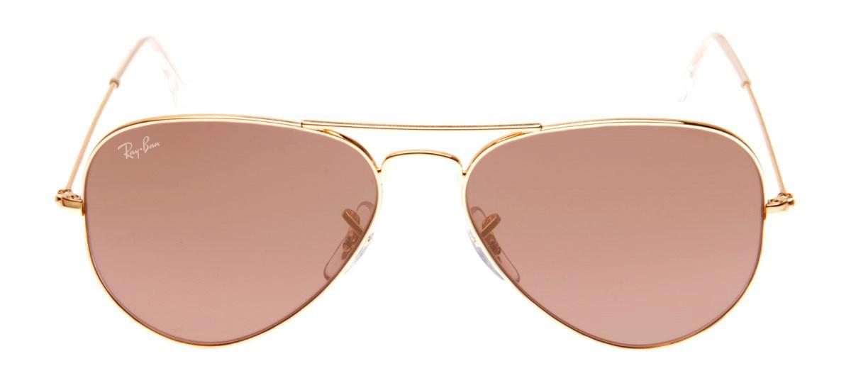 Óculos Ray-Ban Aviador Espelhado Dourado Rose - QÓculos.com a30ea57fbe