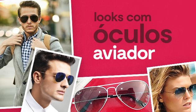 Roupas que combinam com os óculos aviador
