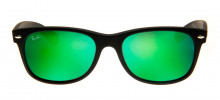 Ray-Ban RB2132 New Wayfarer 55 - Preto Fosco e Verde - 622/19