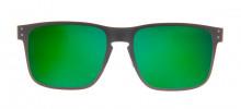Oakley Holbrook Metal 55 - Preto Fosco e Verde - OO4123-04