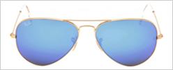 Ray Ban Aviador 3025 Armação Dourada Lente Espelhada Azul