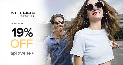 Óculos Atitude com Até 19% de Desconto