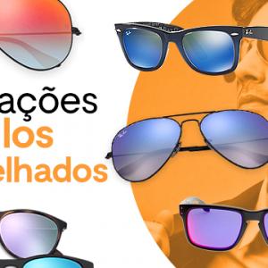Armações para óculos espelhados
