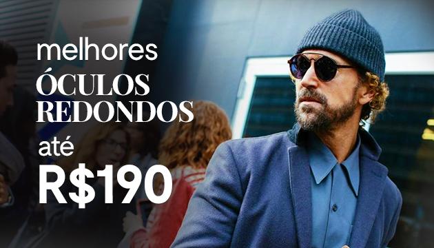 Óculos redondos baratos - Por até R 190 - QÓculosQÓculos 973d8398c1