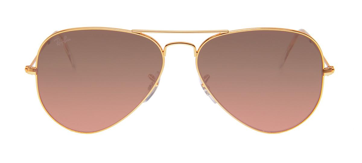 74ba872e2ba91 Ray-Ban Rosa Espelhado - Óculos Dourado Aviador Rosa Espelhado ...