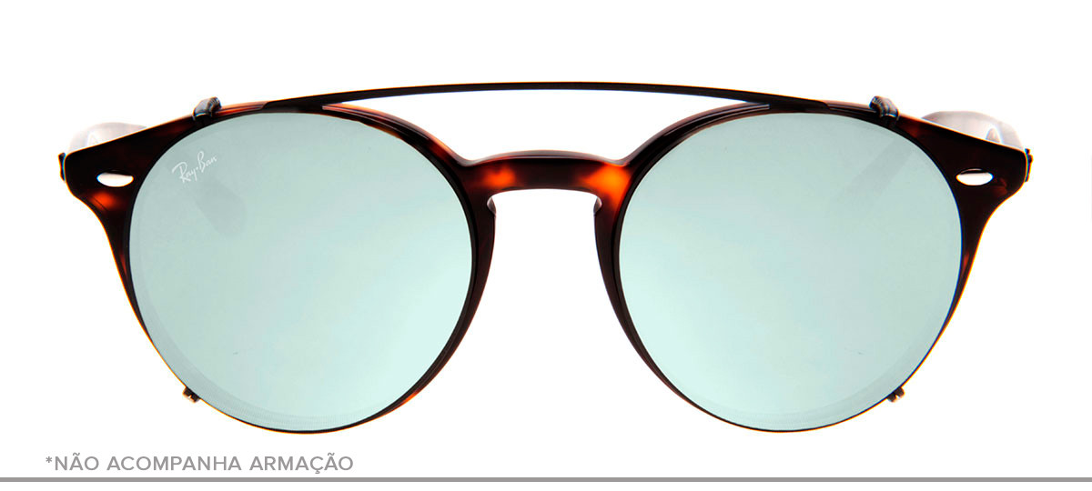 Ray-Ban Clip-On RB2180-C 49 - Preto e Prata - 2509. Loading zoom 34a710a9ee