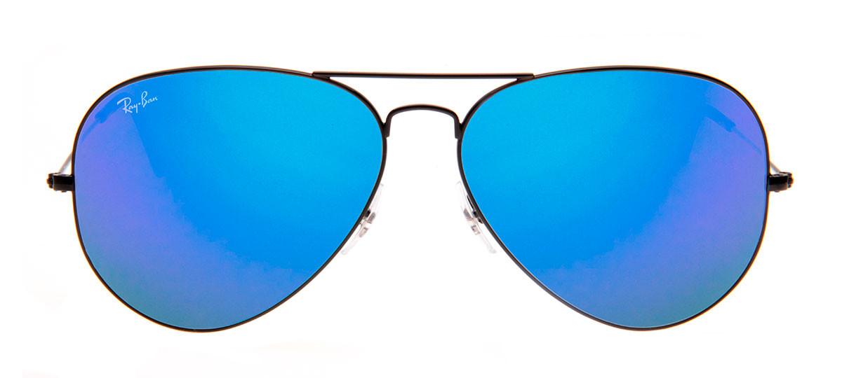 Ray-Ban RB3025 Aviador 62 Espelhada - Preto e Azul - 002 4O ... 8df328e56c