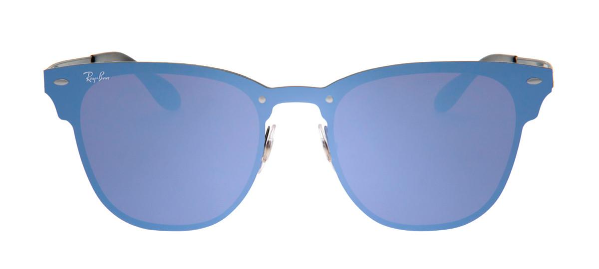 b0afcf468f797 Óculos Ray-Ban Hexagonal Azul e Preto - Óculos de Sol Ray-Ban RB3576 ...