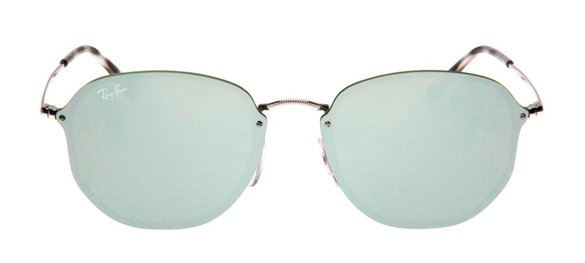6d15e9b1649eb Óculos Ray-Ban Hexagonal Prata - Óculos de Sol Ray-Ban RB3579-N ...