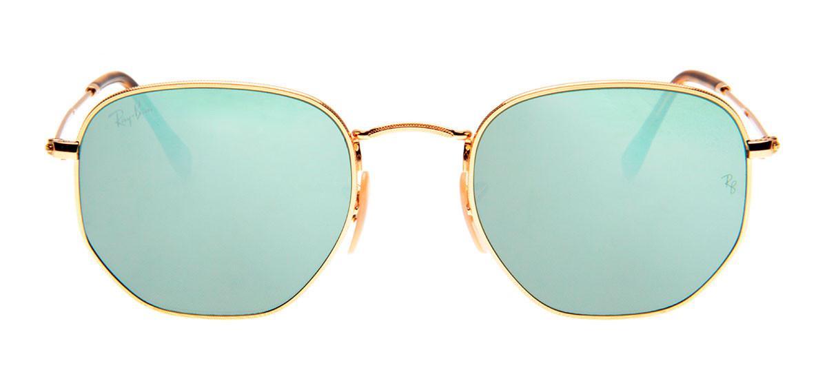 4860fa666328c Óculos Ray-Ban - Óculos Hexagonal Dourado e Prata em 12x SEM JUROS ...