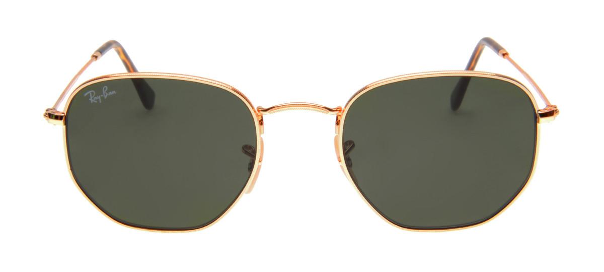 4fbc58ea4bfef Óculos Ray-Ban - Óculos Hexagonal Dourado em 12x SEM JUROS   QÓculos ...