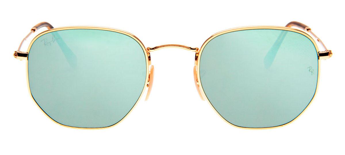 309278d61 Óculos Ray-Ban - Óculos Hexagonal Dourado e Prata em 12x SEM JUROS ...