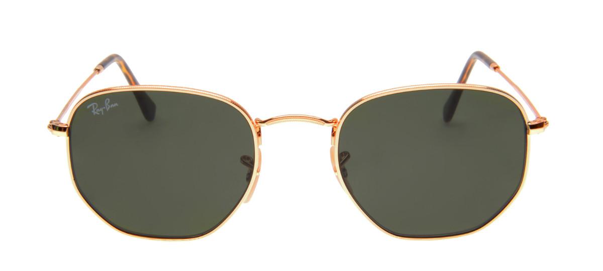 6e07159d9338f Óculos Ray-Ban - Óculos Hexagonal Dourado em 12x SEM JUROS