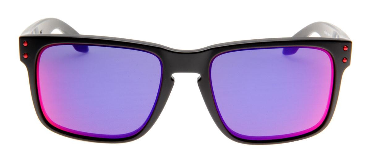 Óculos Oakley Holbrook Preto Fosco   Red Iridium - QÓculos.com 8ae46c1c6d