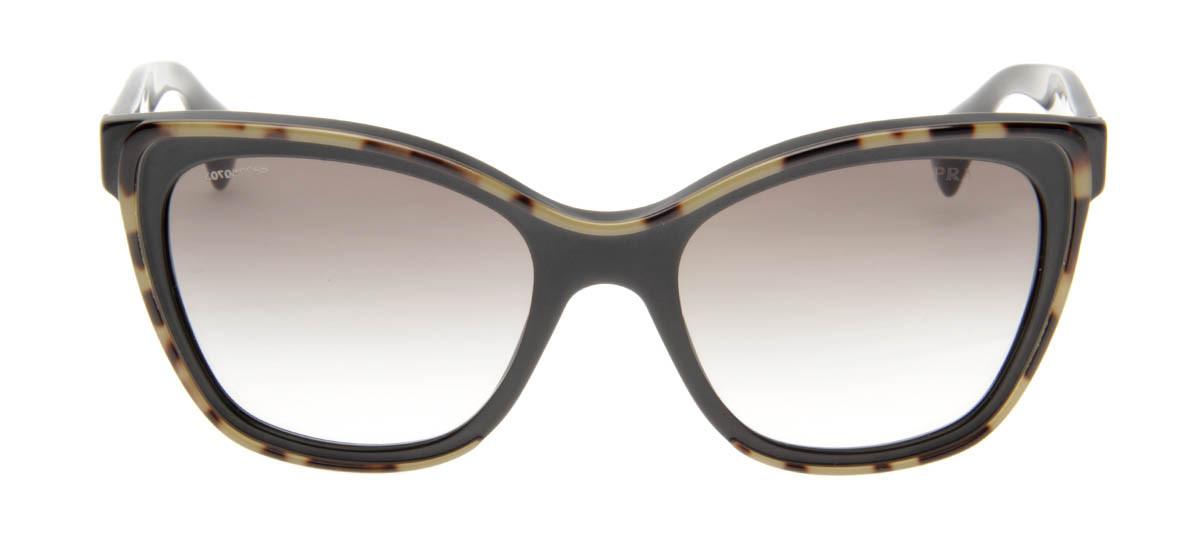 0865b737b6525 Prada SPR20P - Óculos de Sol Prada Feminino Tartaruga Preto ...