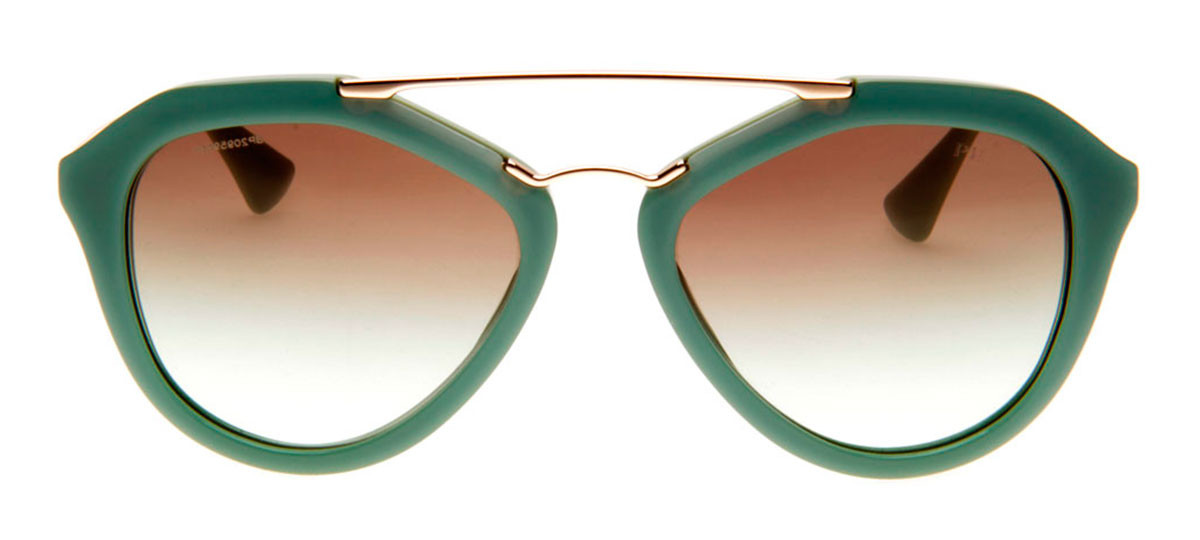 ... PRETO BRILHO Lente 5,5  235c93d99d8 Prada SPR12Q - Óculos de Sol Prada  Feminino Verde Dourado. Loading zoom. Prada ... ede6ddfc3c