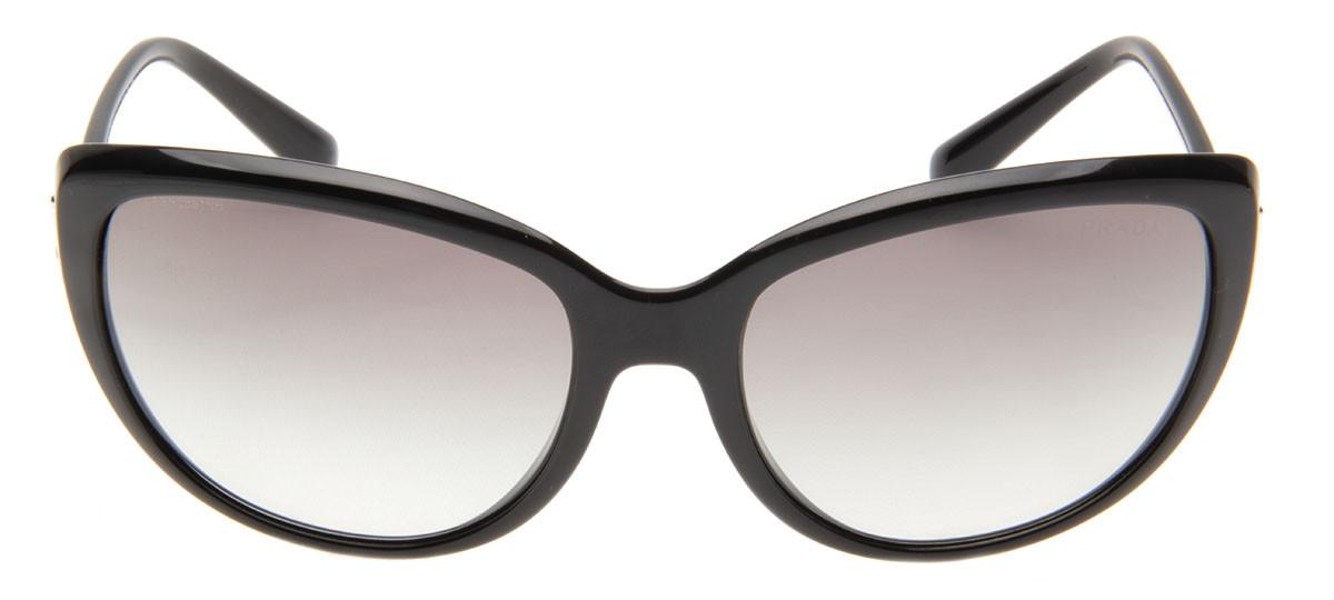 18f75138c039d Prada SPR07O - Óculos de Sol Prada Gatinho Preto