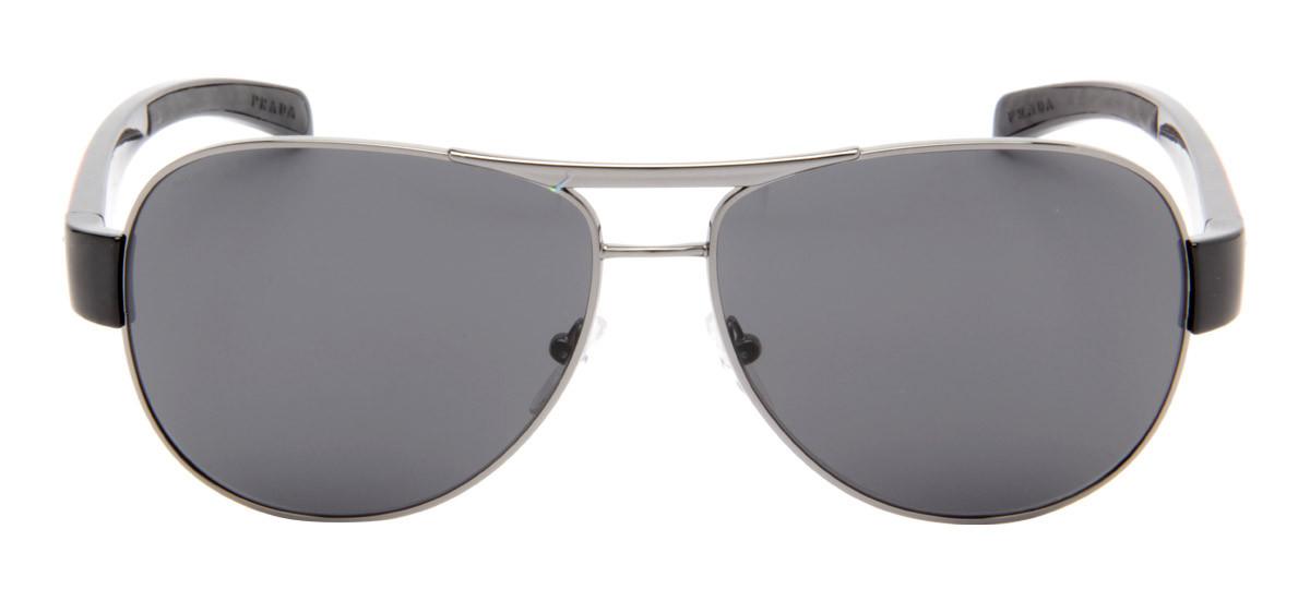53196235c8876 Óculos de Sol Prada Masculino com lentes Cinza Espelhado. Loading zoom