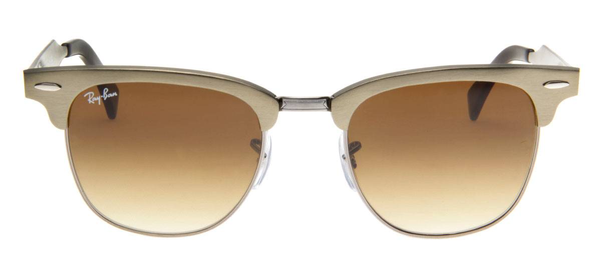 Óculos de Sol Ray Ban Clubmaster Aluminum Frontal. Loading zoom 4ae7f18081
