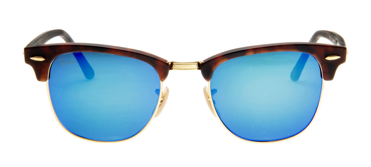 43db960e9 Óculos de Sol Ray Ban Clubmaster Espelhado Tartaruga. Loading zoom