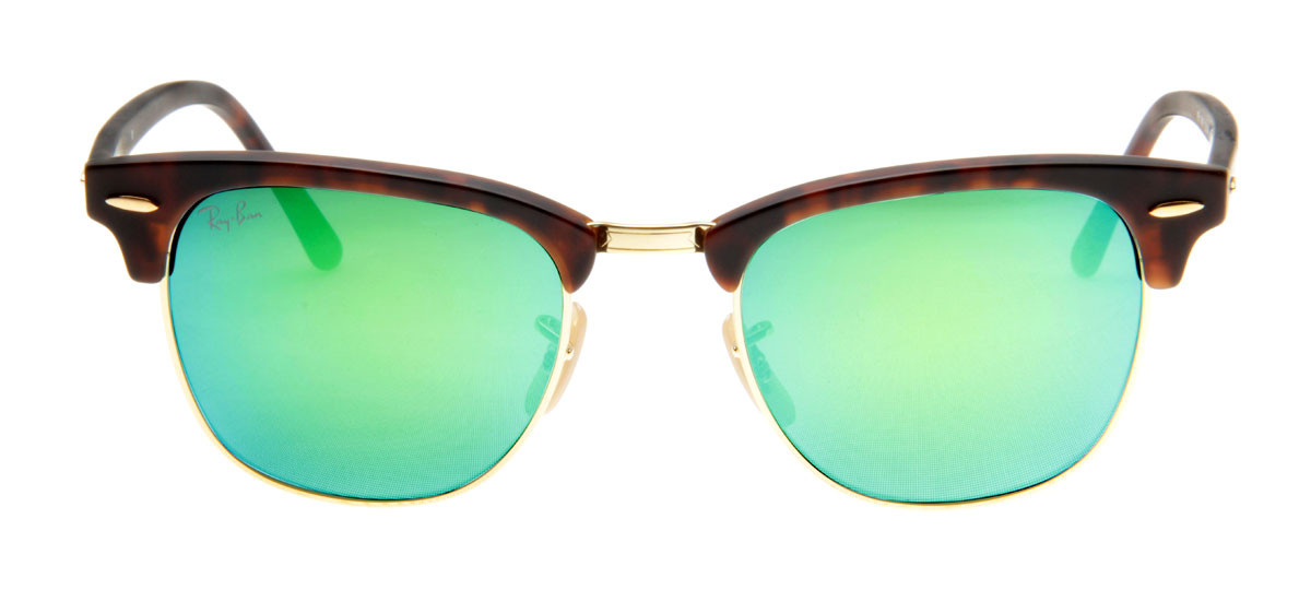 b99c311ff Óculos de Sol Ray Ban Clubmaster Wayfarer Tartaruga Lente Verde Espelhado.  Loading zoom