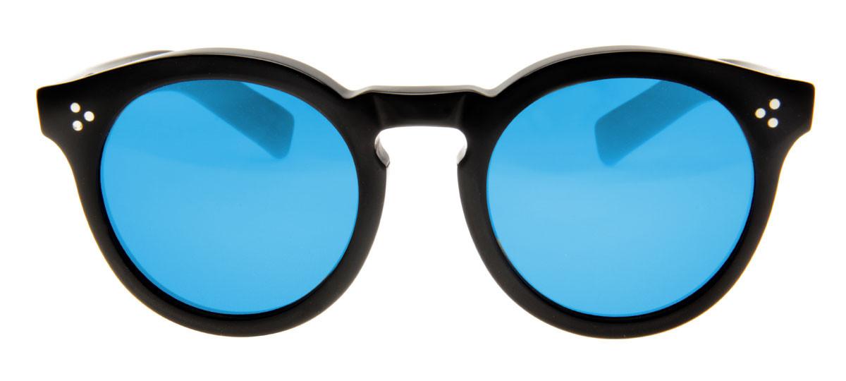 252746dae52df Óculos Illesteva Leonard 2 Redondo Lente Azul Espelhado Armação Preto.  Loading zoom
