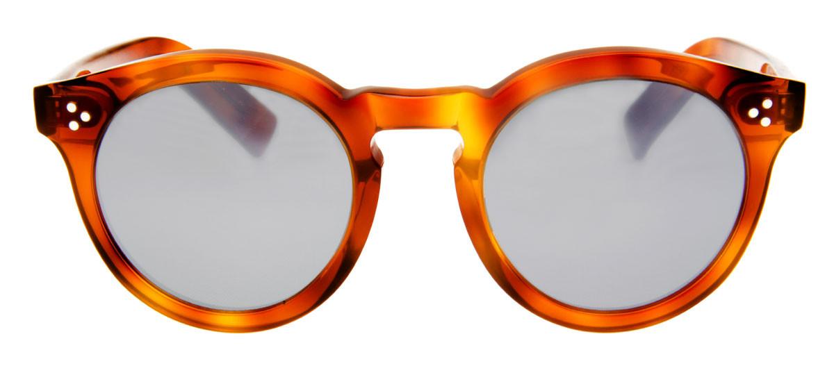 6bf4773057b25 Óculos Illesteva Leonard 2 Redondo Lente Cinza Espelhado Armação Marrom.  Loading zoom