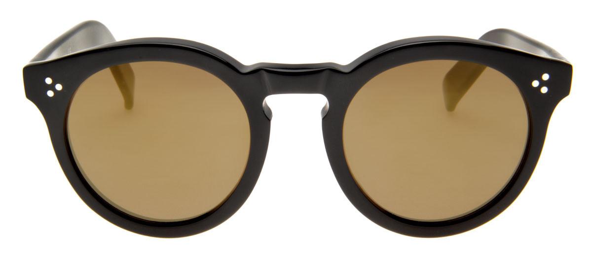 c9f97cbd6 Óculos Illesteva Leonard 2 Redondo Lente Espelhadas Bege Armação Preto.  Loading zoom