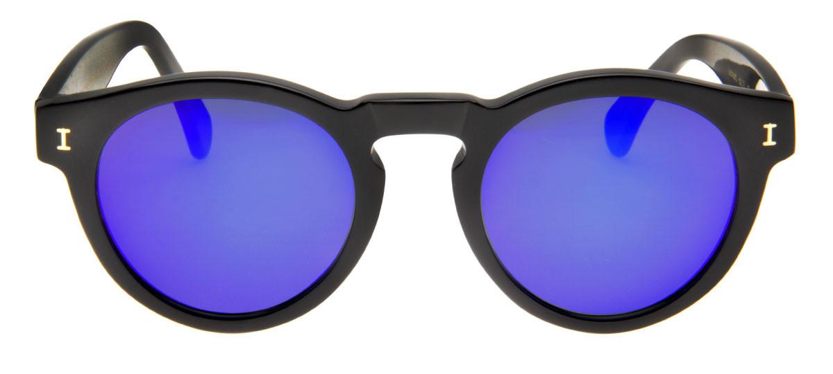 8b21884e7fb17 Óculos de Sol Illesteva Leonard Redondo Espelhado Violete Armação Preta.  Loading zoom
