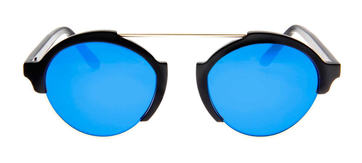 9391da21aeacb Óculos Illesteva Milan 3 - Lente Redondo Azul Espelhado Armação ...