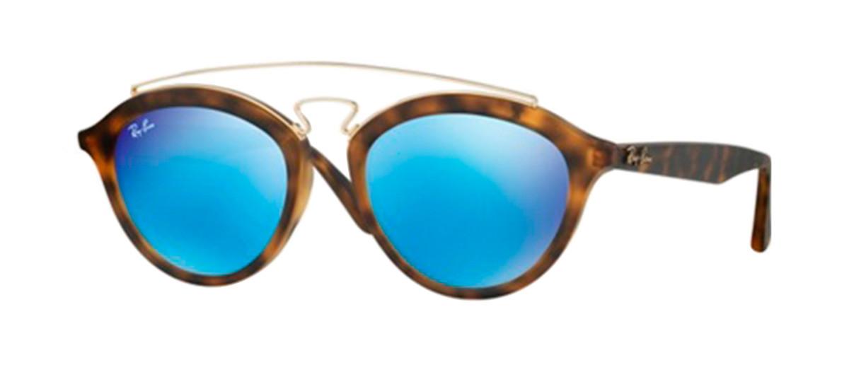 Óculos Ray-Ban Gatsby RB4257 Armacao Tartaruga Lentes Espelhada Azul.  Loading zoom 5ec5d1c19b