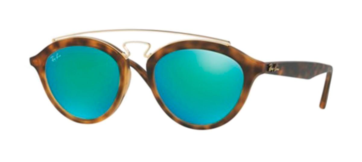 4fd870fa6 Óculos Ray-Ban Gatsby RB4257 Armação Tartaruga Lentes Espelhada Verde.  Loading zoom