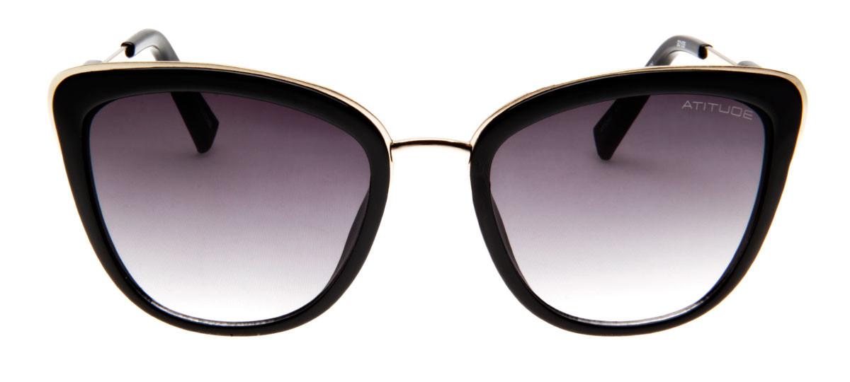 3e77fbd0870d2 ... Preto Brilhante - A01 Óculos de Sol na eÓtica. Atitude AT5245 Wayfarer-  Lente Degradê Roxa - QÓpanaust.com.au