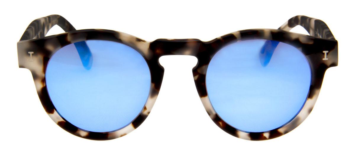 d597c1c43419b Óculos Illesteva Leonard Camuflado com Lentes Espelhada Azul ...