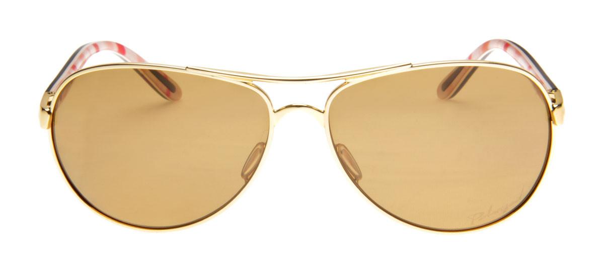 66106a3d9 Oakley Feedback Aviador - Lente Polarizada Dourada - QÓculos.com