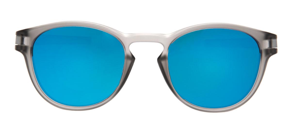 a0a9c6d7bf6fa Oakley Latch Redondo - Lente Espelhada Azul - QÓculos.com