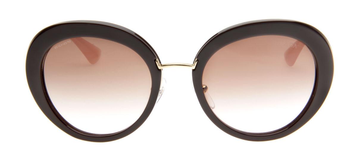12b28e887e97b Prada SPR16Q Marrom - Compre os Óculos Prada SPR16Q Marrom com ...