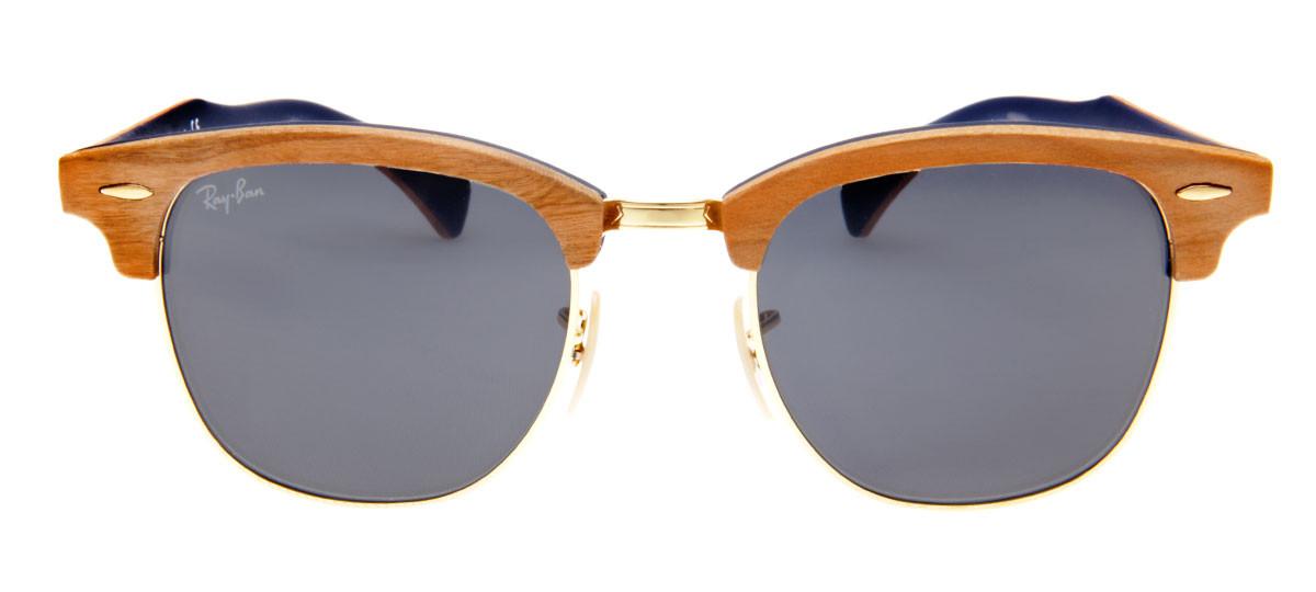 453762195 Óculos Ray-Ban Clubmaster Madeira. Disponível também em outras cores