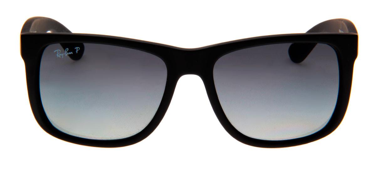 5114cfa89e587 Ray Ban RB4165 Justin Wayfarer - Lente Polarizada Cinza - QÓculos.com