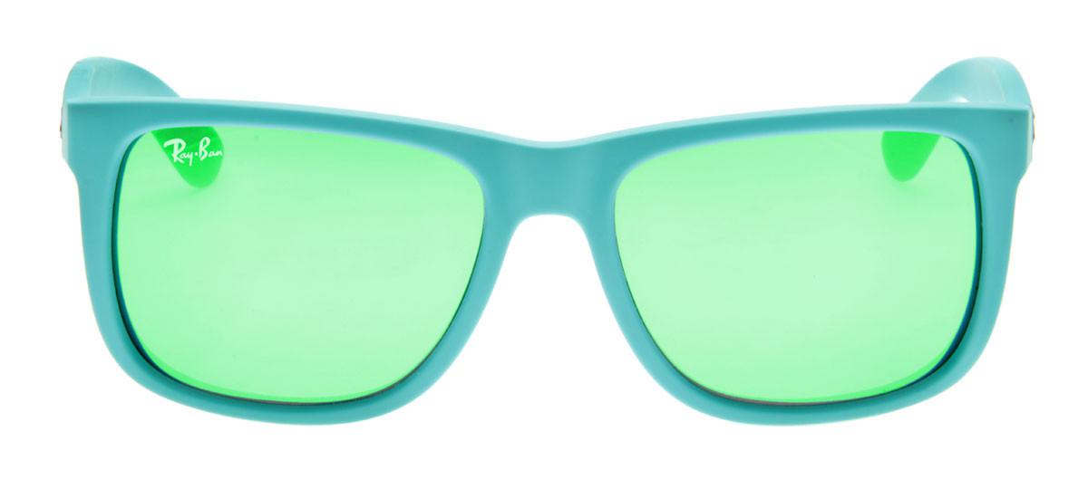 ce58a24c907d0 Ray-Ban RB4165 Justin Wayfarer - Lente Espelhada verde - QÓculos.com