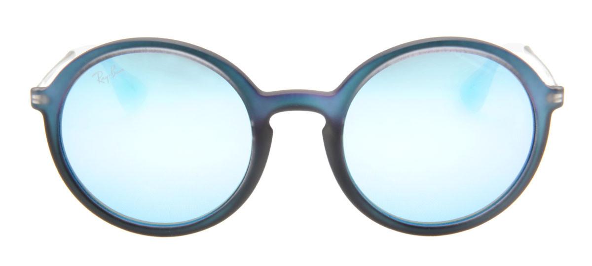925da413502f2 Ray-Ban RB4222 Redondo - Lente Espelhada Azul - QÓculos.com