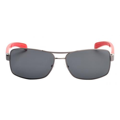 Prada SPS50L 62 - Cinza e Vermelho