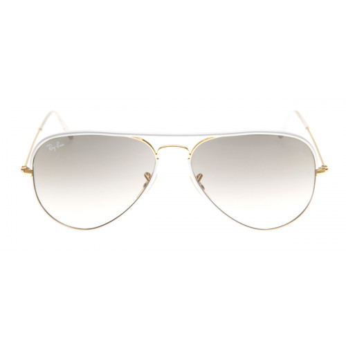 5867ab47ca0cb Ray-Ban RB3025JM Aviador Full Color 58 - Branco e Dourado - 146 32 ...