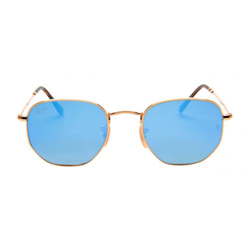 Ray Ban RB3548-N Hexagonal 51 - Dourado e Azul - 001/9O