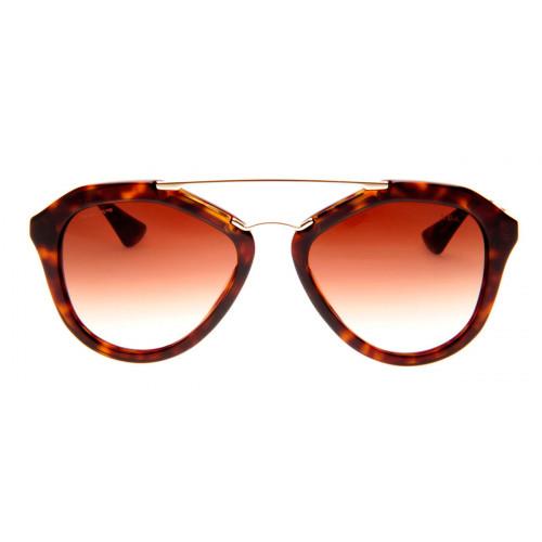 0584edfdc2f82 Prada SPR12Q - Óculos de Sol Prada Feminino Marrom Tartaruga ...