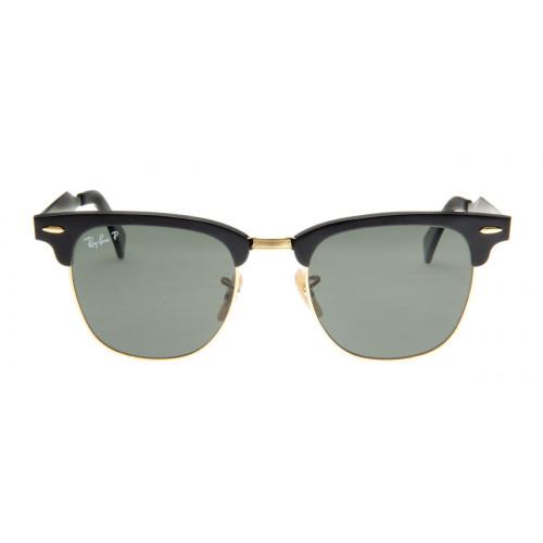 Óculos de Sol Ray Ray Ban Clubmaster Wayfarer Preto Lente Polarizada